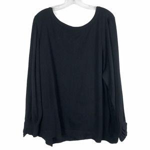 Lane Bryant Plus Sz 22 24 Sweater Black Ruffle 722